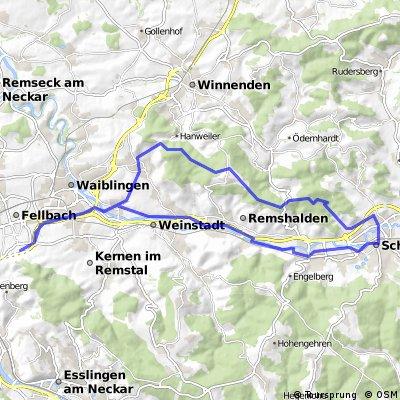 Rundtour-Fellbach-Schorndorf-Fellbach