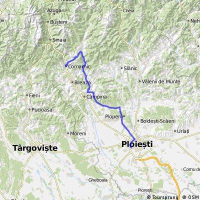 Comarnic-Secăria-Valea Doftanei-Câmpina-Scorțeni-Păulești-Ploiești
