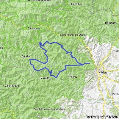 Pendédis-vallée du Gardon-corniche des Cévennes