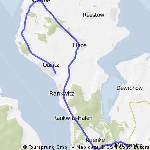 Morgenitz – Bömkenberg – Rankwitz – Liepe – Warthe – Quilitz