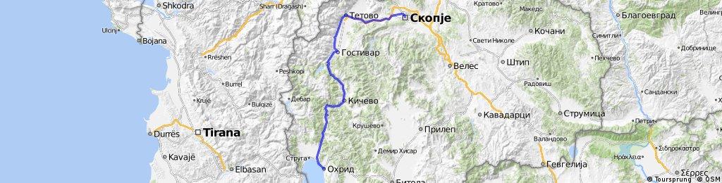 Skopje - Tetovo - Gostivar - Kicevo - Ohrid