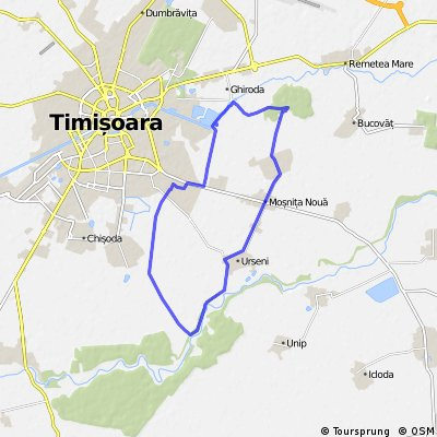 Timisoara-Plopi-Padurea Bistra-Mosnita Veche-Urseni-Timisoara
