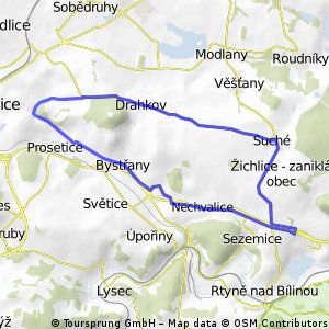 Teplice - Drahkov - Kvítkov - Suché - Teplice