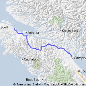 Cycling routes and bike maps in and around Campbell River Bikemap
