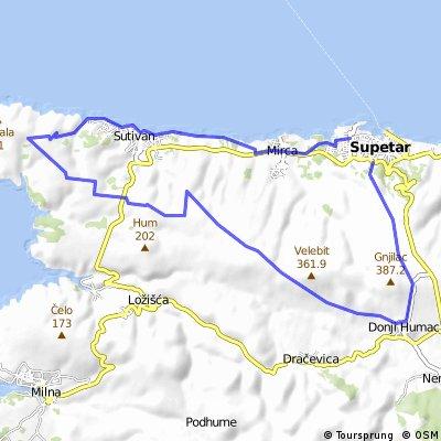 Supetar - Donji Humac - Supetar.