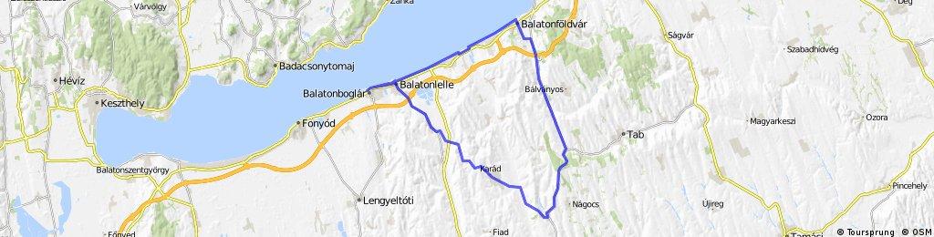 Balatonboglar-Andocs-Balatonfoldvar-Balatonboglar
