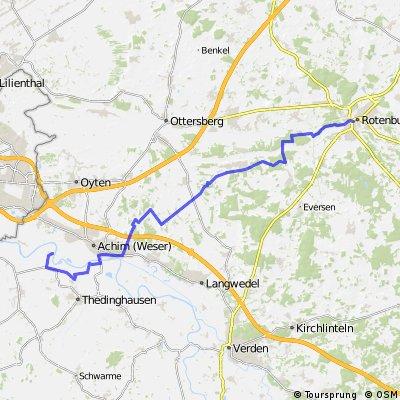 Von der Weser nach Rotenburg Wümme (Abschnitt Horstedt ROW)