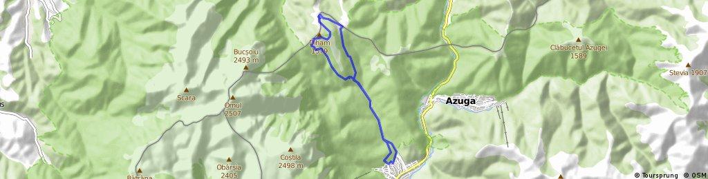Str Morarului (Busteni) - Valea Cerbului - Gura Diham - Cabana Diham - Cabana  - Gura Diham - Busteni