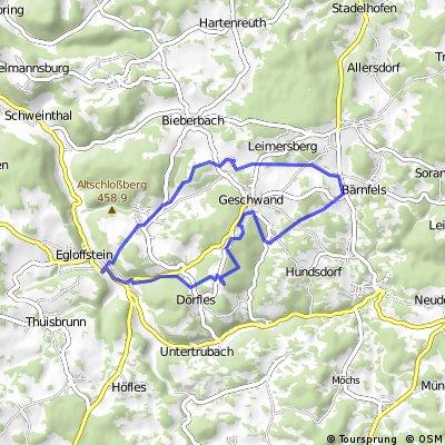 Egloffstein_Affalterthal_Bärenfels_Signalstein_Hammerbühl