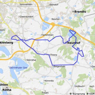 Radrunde Globus-Naunhof-Großsteinberg-Pomßen-Großpösna
