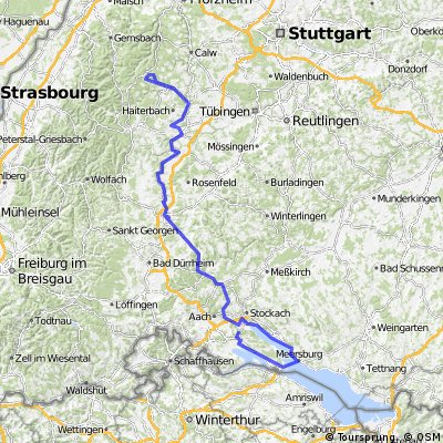 Simmersfeld - Meersburg - Singen