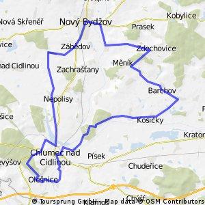 Okruh přes N.Bydžov,Babice a Kosice
