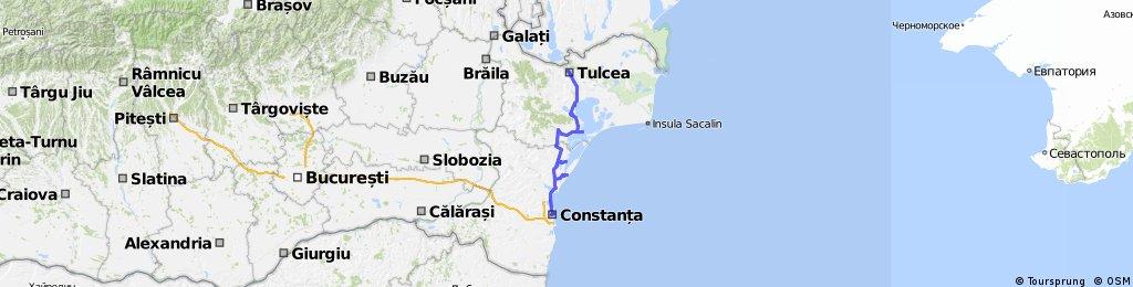 Constanta - Vadu - Jurilovca - Enisala - Tulcea