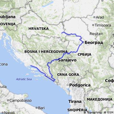 split - dubrovnik - mostar - sarajevo - beograd - novi sad - vinkovci