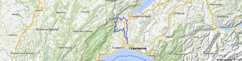 81 km: Bavois - Moiry - Les Clées - Mathod - Suchy - Penthéréaz - Etagnières