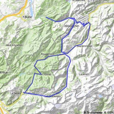 Grischbachtal - Col du Pillon - Col des Mosses - Jaunpass