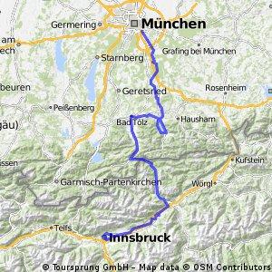 INNSBRUCK-MONACO (Achensee-BadTolz-Tegernsee-Monaco)
