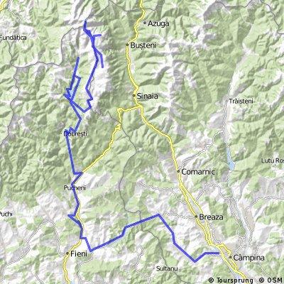 Excursie Busteni - Babele - Costila - Vf Omu - Retur Costila - Sfinx - Saua Dichiu - Lac Bolboci - Pestera - Bolboci - Moroeni - Pietrosita - Bezdad - Campina