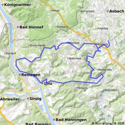 Neustadt (Wied) - Roßbach - Linz - Unkel - Neustadt