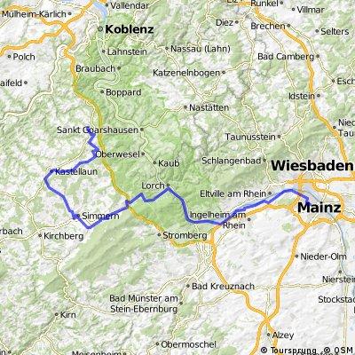 20130712 Emmelshausen - Simmern - Rheinböllen - Bingen - Mainz
