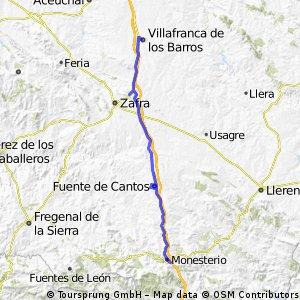 2ª Etapa (Monesterio-Villafranca de los Barros)