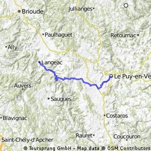 Le puy - Langeac mit 1200er pass und allier