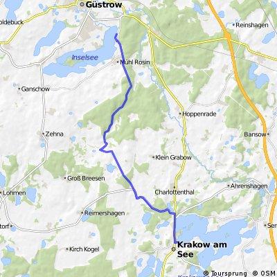Berlin - Copenhagen - Day 3, 2nd Leg (Krakow an See to Grüstow)