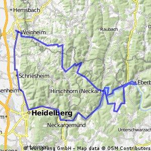 Sonntagstour nach Eberbach als Runde.