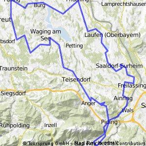 Große Waginger See Runde 14.07.2013