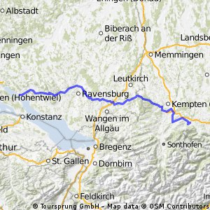 Allgäu 2013 - Hinfahrt Samstag