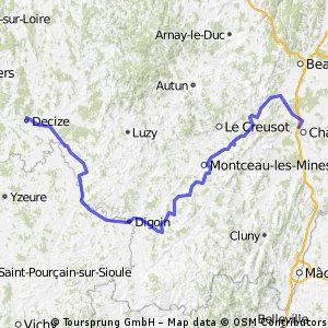 Fr - Canal du Centre : Chalon sur Saône -> Decize