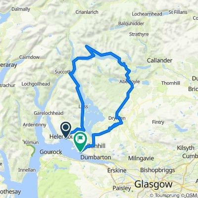 Cardross around Loch Lomond and Loch Katrine
