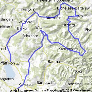 Cycling routes and bike maps in and around Wetzikon Bikemap Your