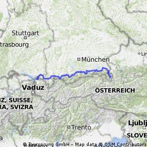 Radtour Bodensee zum Königssee