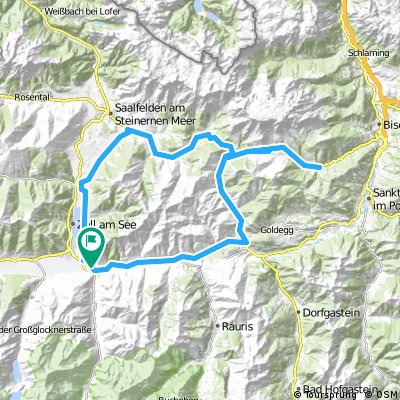 Rennradtour von Bruck über Filzensattel und Dientener Sattel