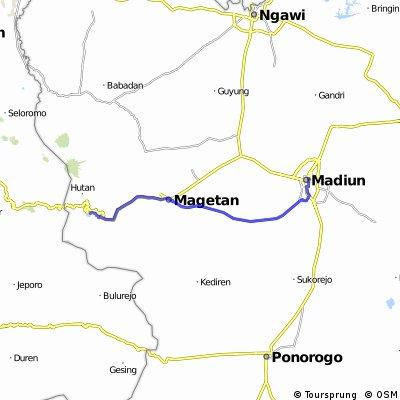 Madiun to Yogjakarta day 1