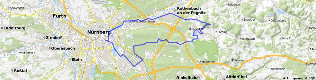 52 km II Moutain Bike II Nürnberg - Brünn - Moritzberg - Nürnberg