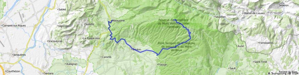 Malaucene -> Mont Ventoux par Bedoin X Caviar