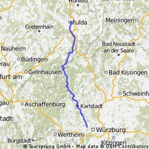2. Etappe Göttingen - Würzburg