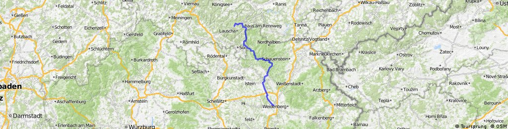 Team WEISSER RING on Tour 2013_5.Etappe_Neuhaus a. Rennweg - Bayreuth