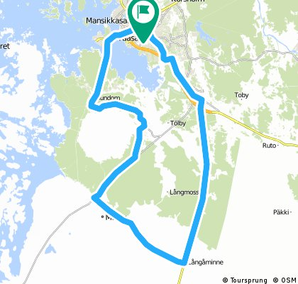 Vaasa-Sundom-Sulva-Maalahti-Långåminne-Vaasa (Kivihaka)