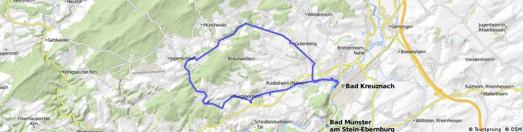 Kleinbahnrundweg - Bad Kreuznach - Ellerbachtal | Bikemap ...