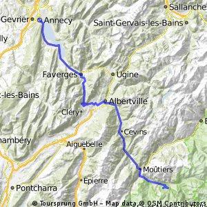 Annecy to Le Praz via Col de Tamie