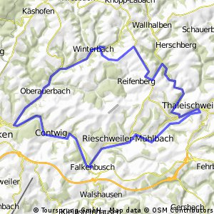 Winterbach - Wallhalben - Taleischweiler - Niederauerbach - Winterbach