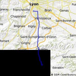 Lyon -> Vienne