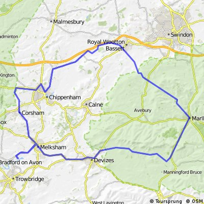 Holt-Devizes-Pewsey-Marlborough-Wooton Basset-Chippenham-Holt