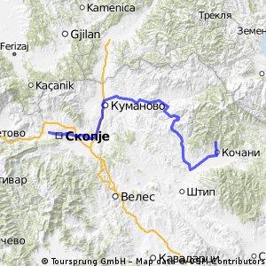 Тура низ Македонија - Етапа 1