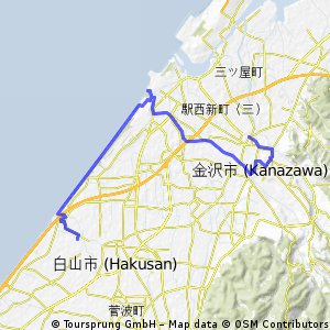 Cycling routes and bike maps in and around Kanazawa Bikemap Your