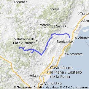CALIG-PEÑAGOLOSA-LINARES DE MORA   MIAUUUUU