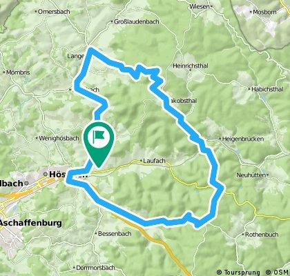 Sailauf - Vormwald - Heigenbrücken - Waldaschaff